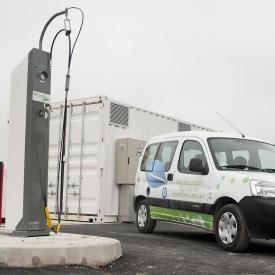 1 station biométhane-carburant